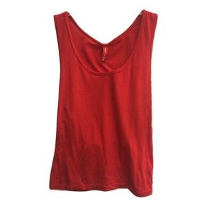 New LF Emma & Sam Red Cross Hatch Strap Tank Top